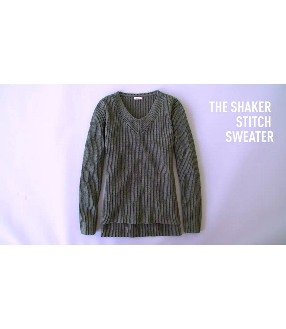 Video: Shaker Stitch Sweater