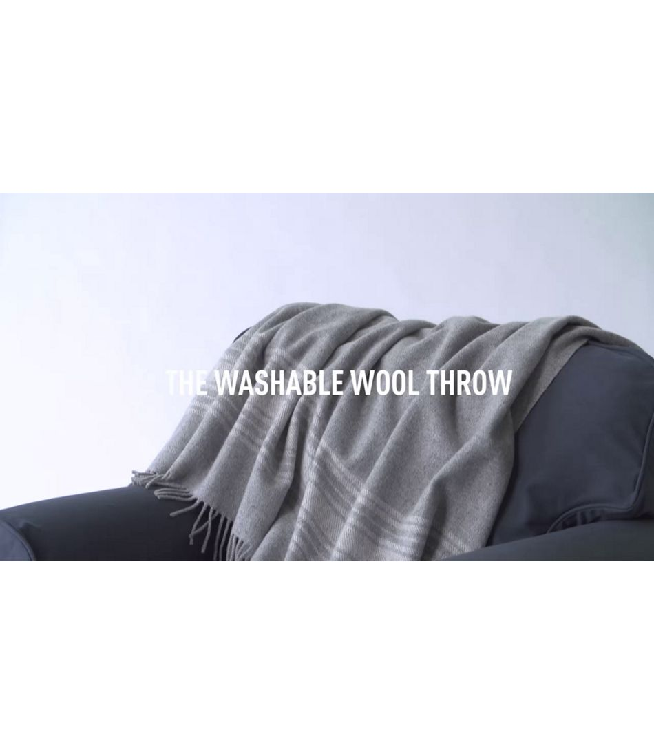 Video Wool Throw L Bean Washable