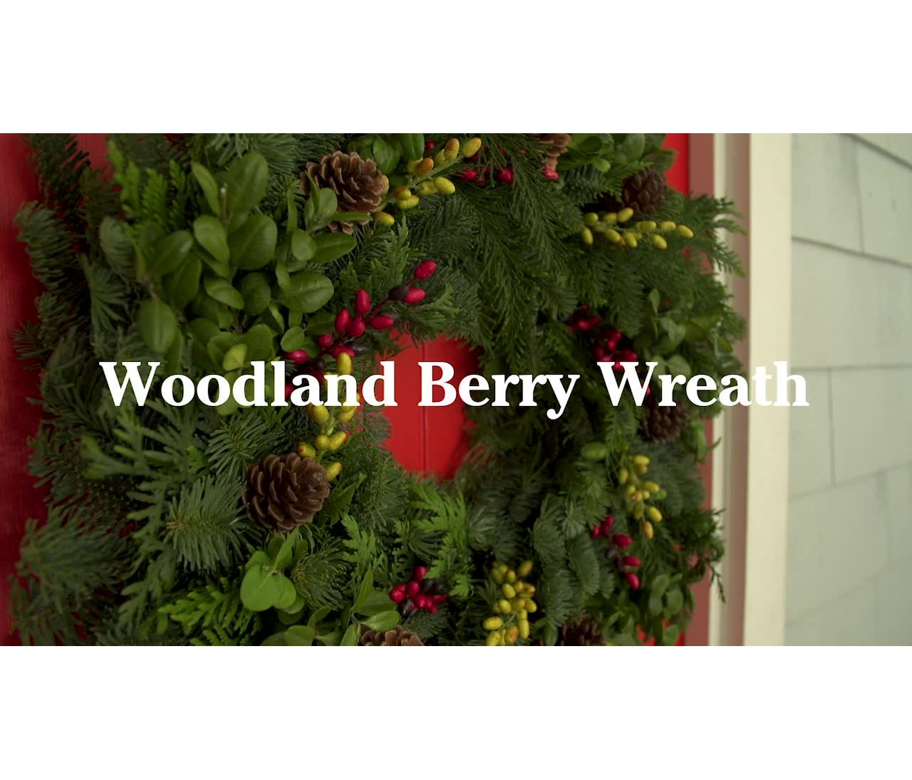 Video: WOODLAND BERRY WREATH 24