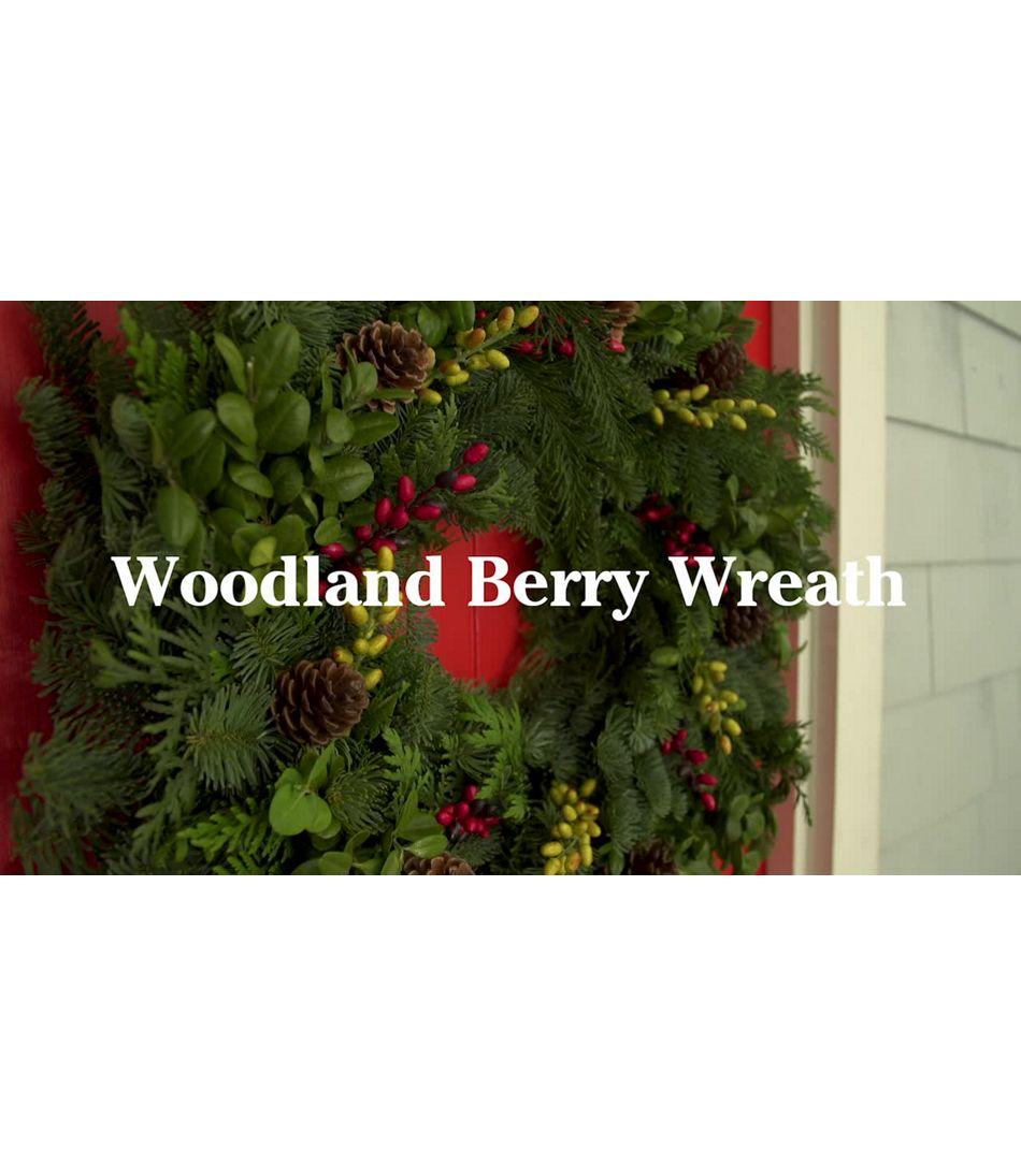 Video: WOODLAND BERRY WREATH 24