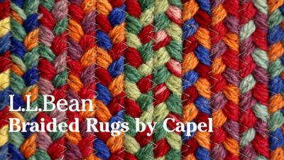 L L Bean Braided Wool Rug Oval