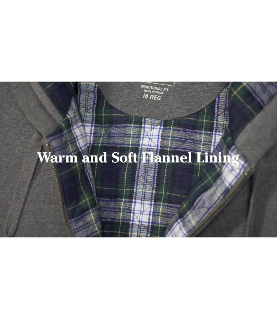 Video: Athletic Sweats Flannel Lined Hooded Full Zip Mens Regular