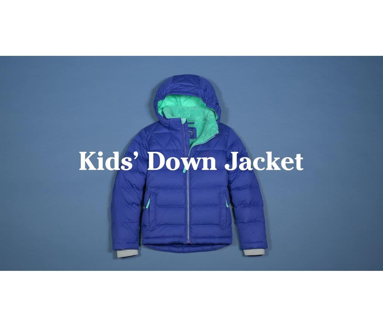 Video: Bean's Down Jacket Color Block Kids'