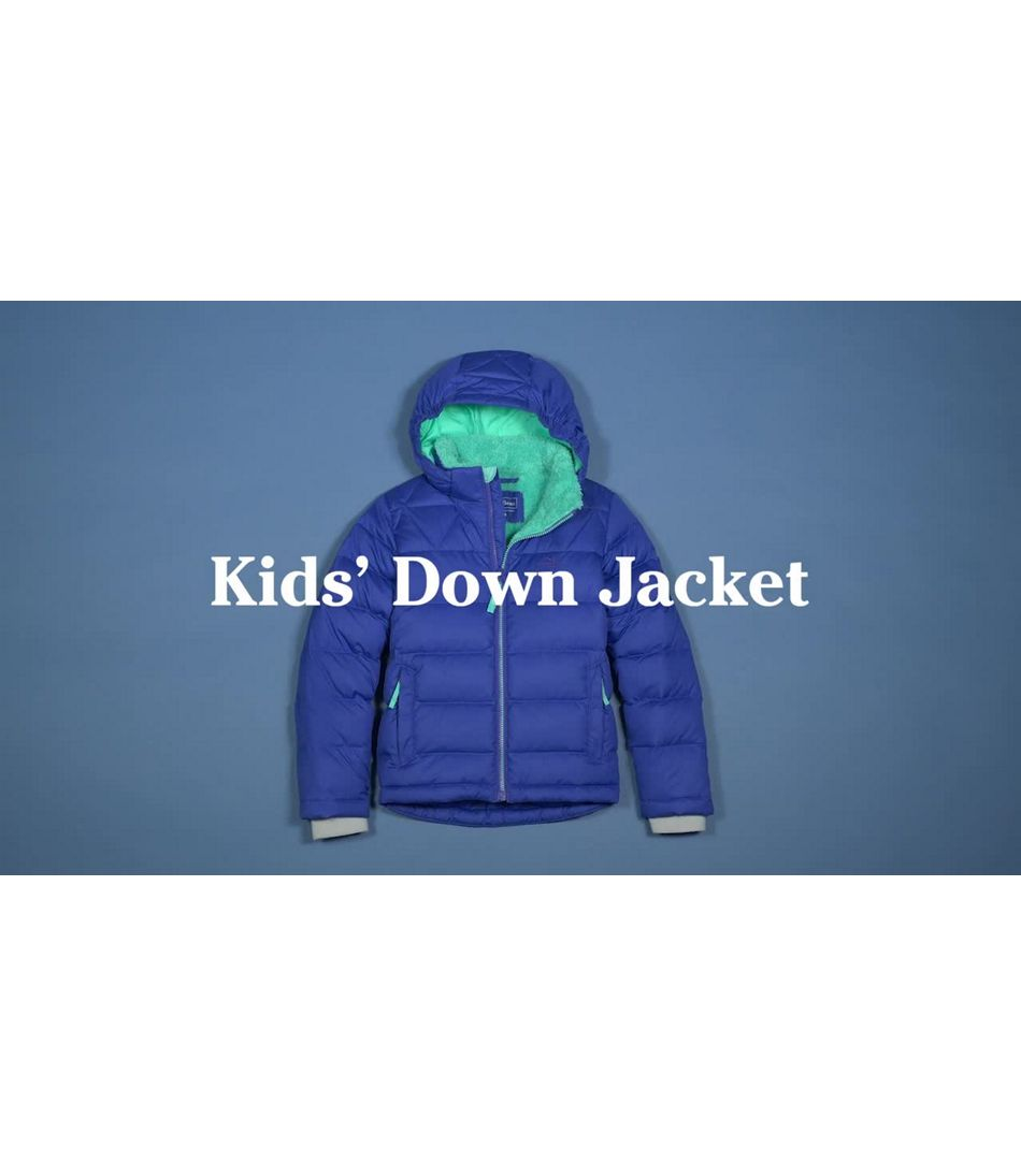 Video: Bean's Down Jacket Color Block Kids'