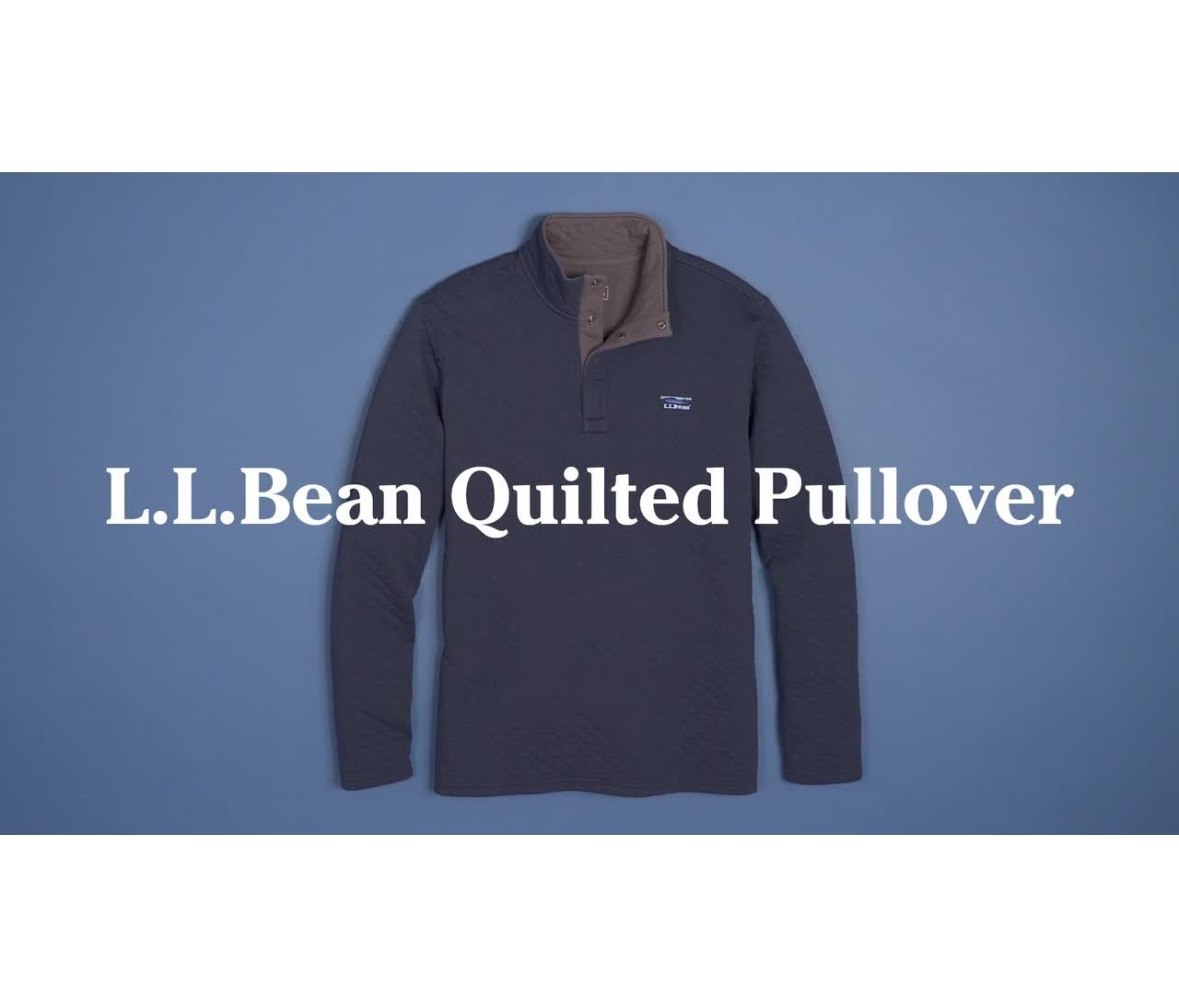 Video: Beans Quilted Pullover Ms