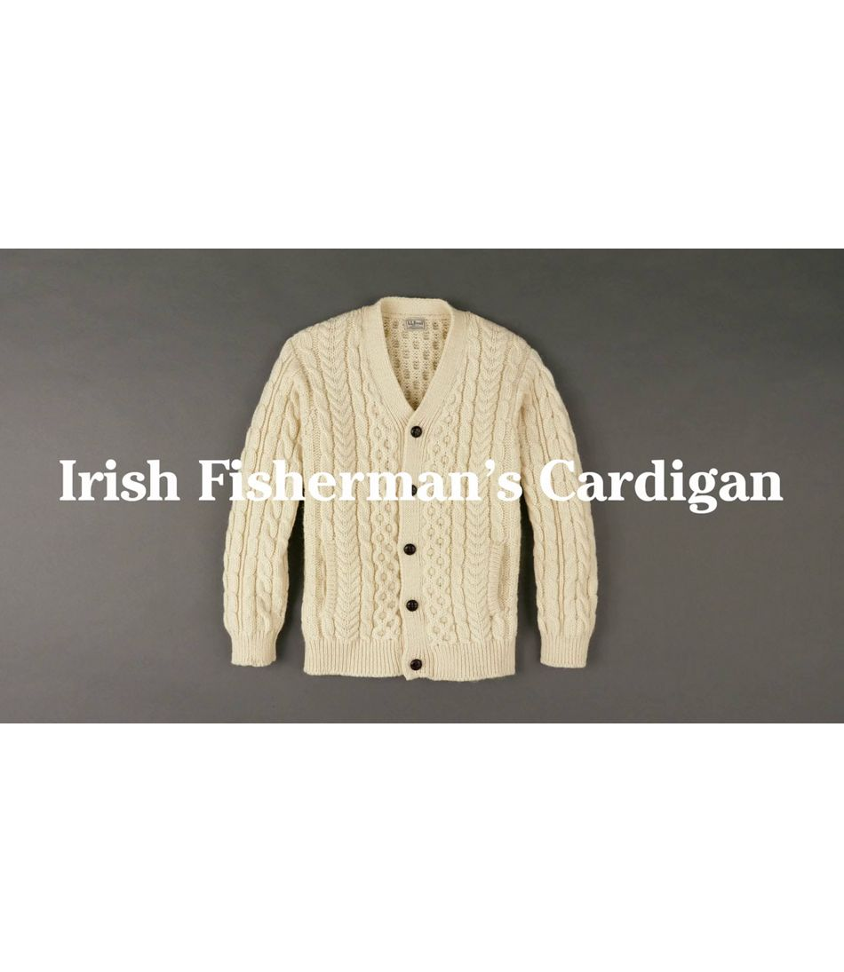 Video: Cable Irish Fisherman Cardi Mens