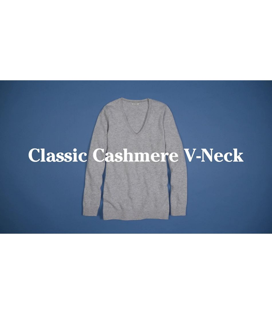 Video: Classic Cashmere Swtrs Vneck Ws