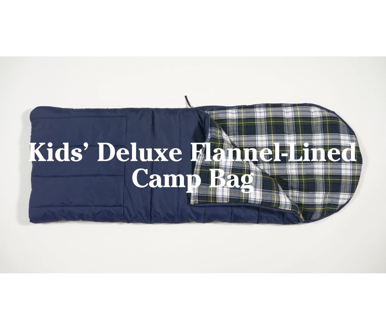 Video: Deluxe Flannel Camp Bag Kids