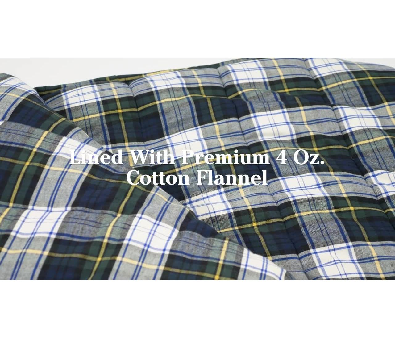 Video: Deluxe Flannel Camp Bag Extra Large
