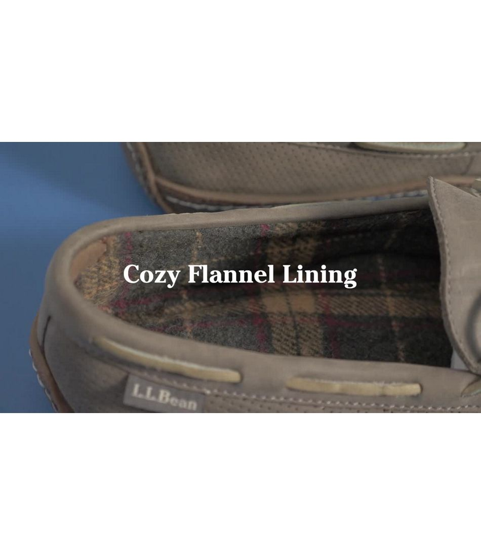 Video: Handsewn Slipper Flannel Lnd Mens