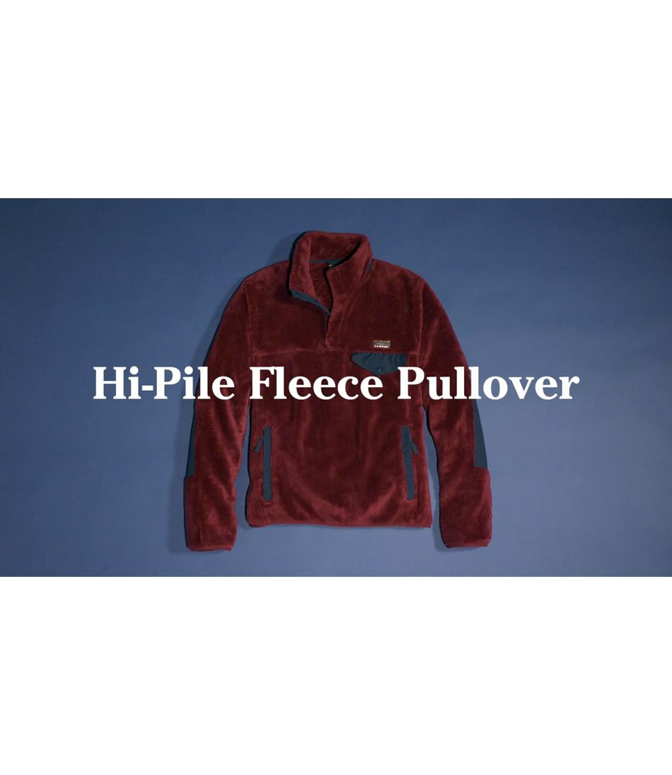 Video: L.L.Bean Hi-Pile Fleece Pullover Mens