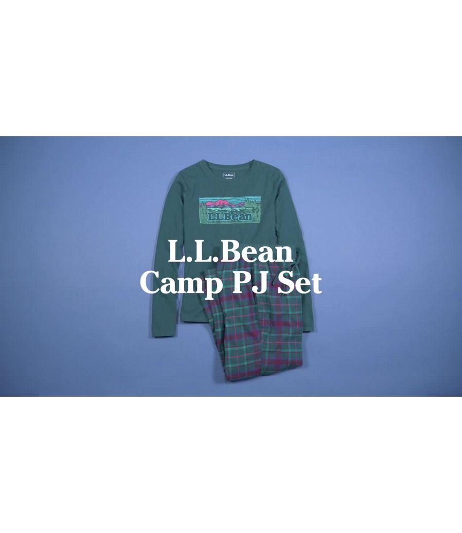 Video: L.L. Bean Camp Pajama Set Womens Regular