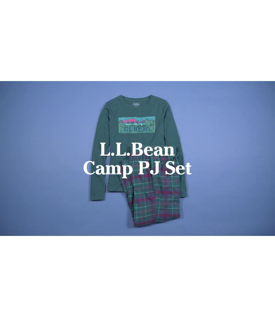 Video: L.L. Bean Camp Pajama Set Womens Regular