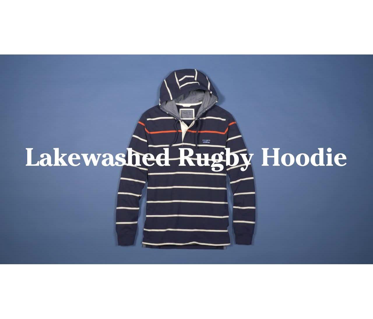 Video: Lakewashed Rugby Hoodie Stripe Mens