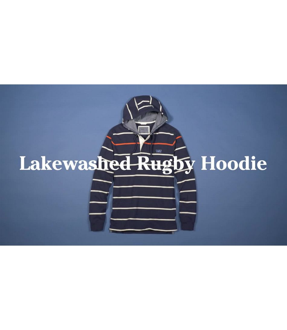 Video: Lakewashed Rugby Hoodie Stripe Mens