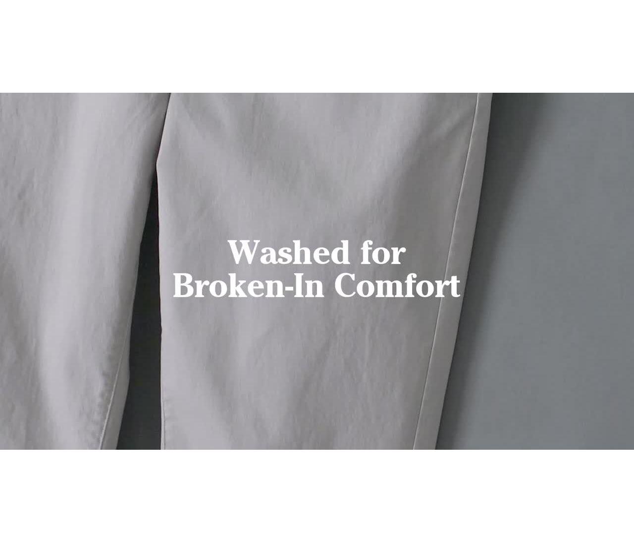 Video: Lakewashed Stretch Khakis Ms