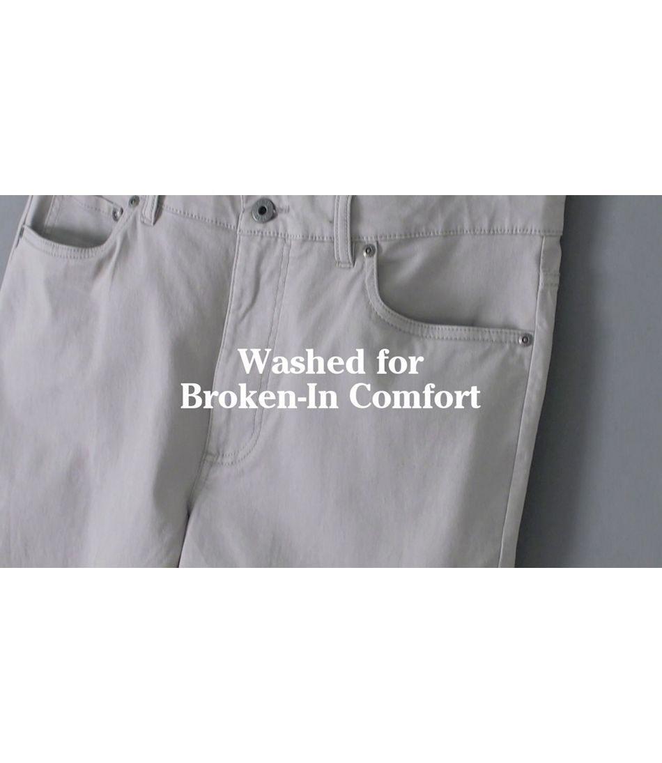 Video: Lakewashed Stretch Khakis Ms