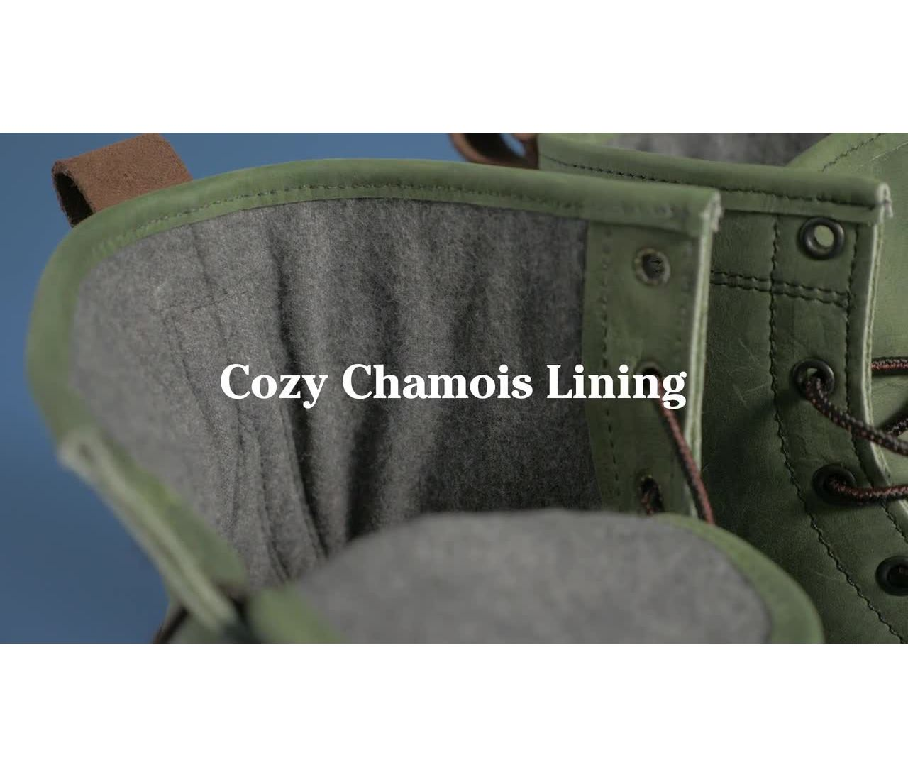 Video: Bean Boot 8 Leather Chamois Lined Mens