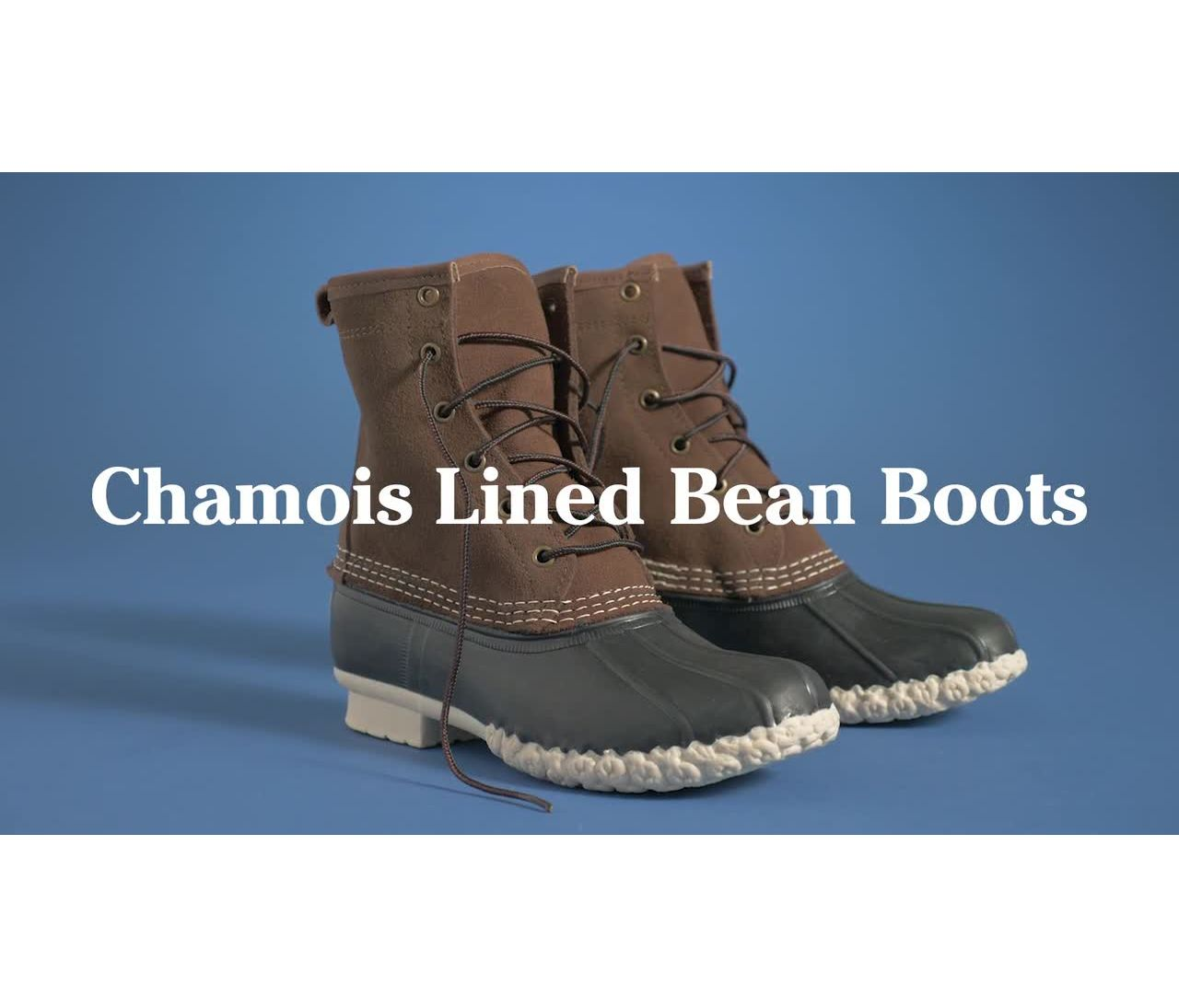 Video: Bean Boot 8 Leather Chamois Lined Womens