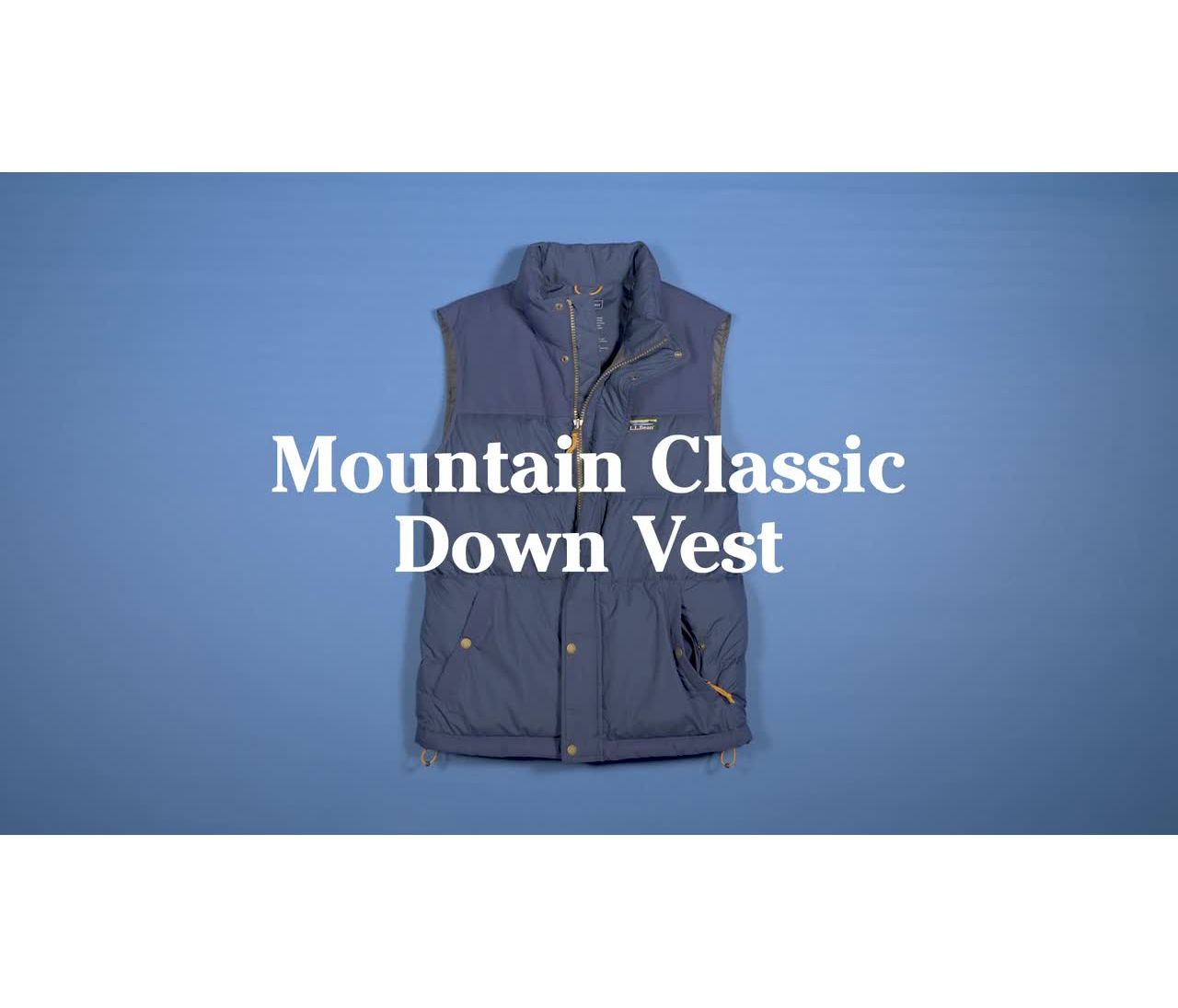 Video: Mountain Classic Down Vest Mens