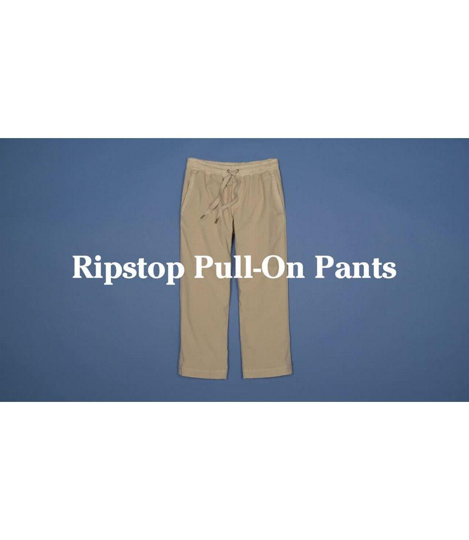 Video: Ripstop Pull-On Pant Capri Misses