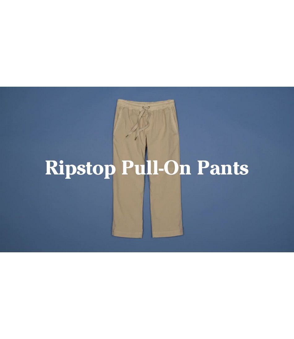 Video: Ripstop Pull-On Pant Capri Misses