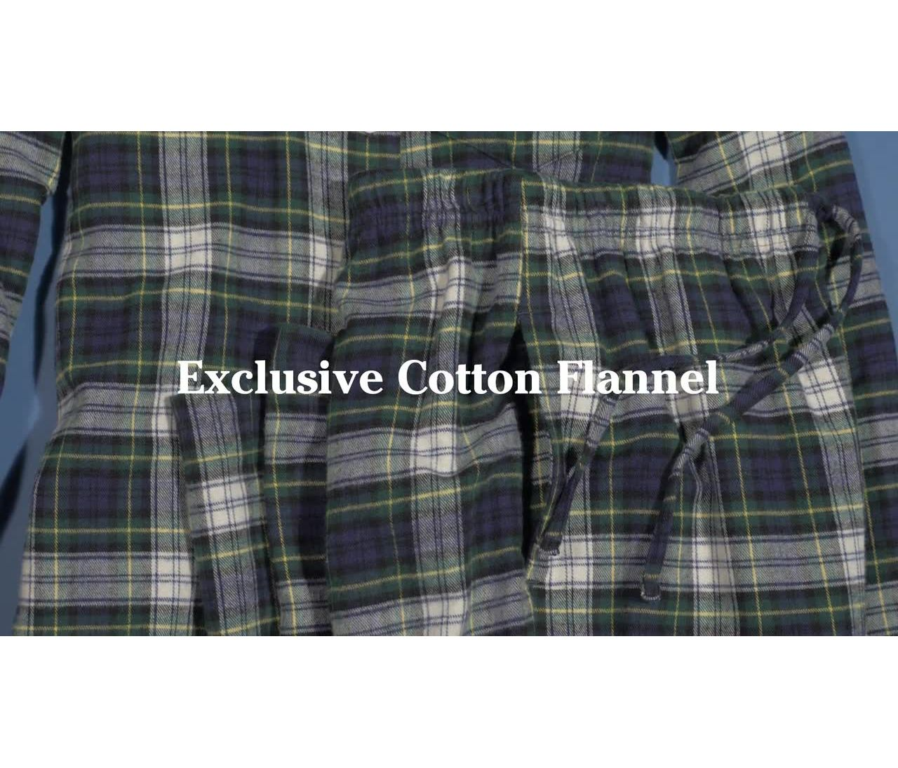 Video: ScotchPlaidFlannel Pajamas Womens
