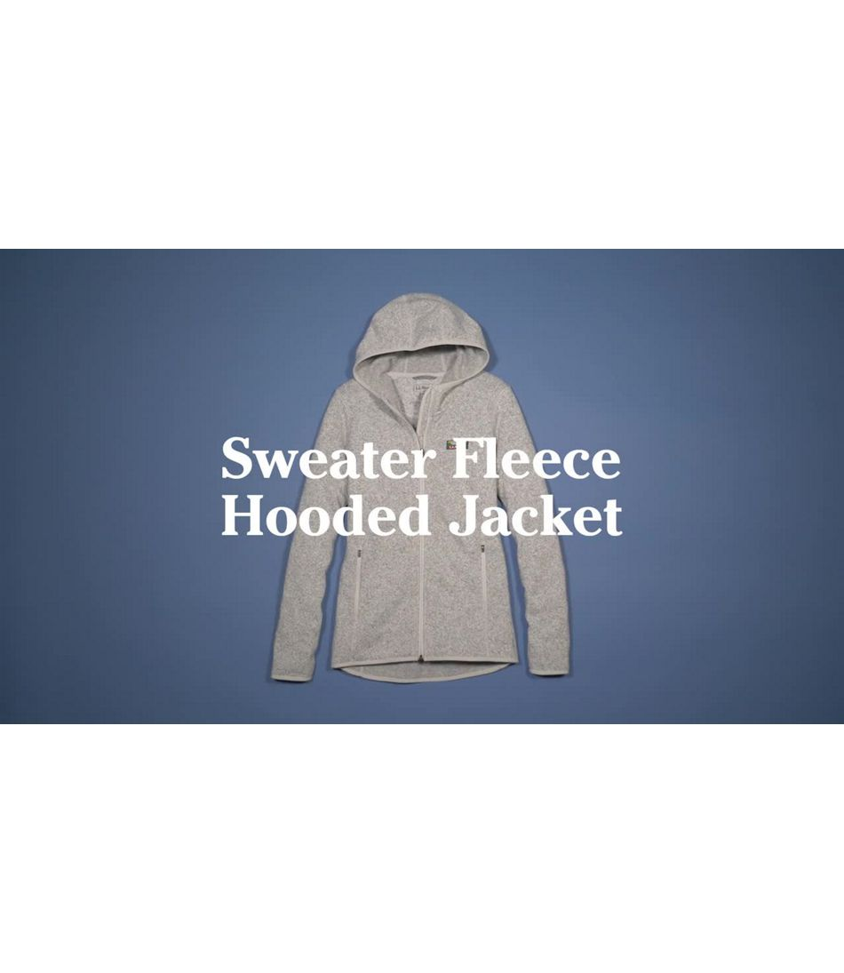 Video: Beans Sweater Fleece Full-Zip Hoodie Womens