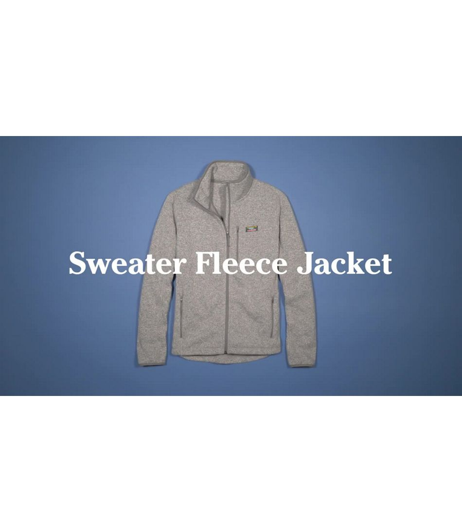 Video: Beans Sweater Fleece Full Zip Jacket Mens