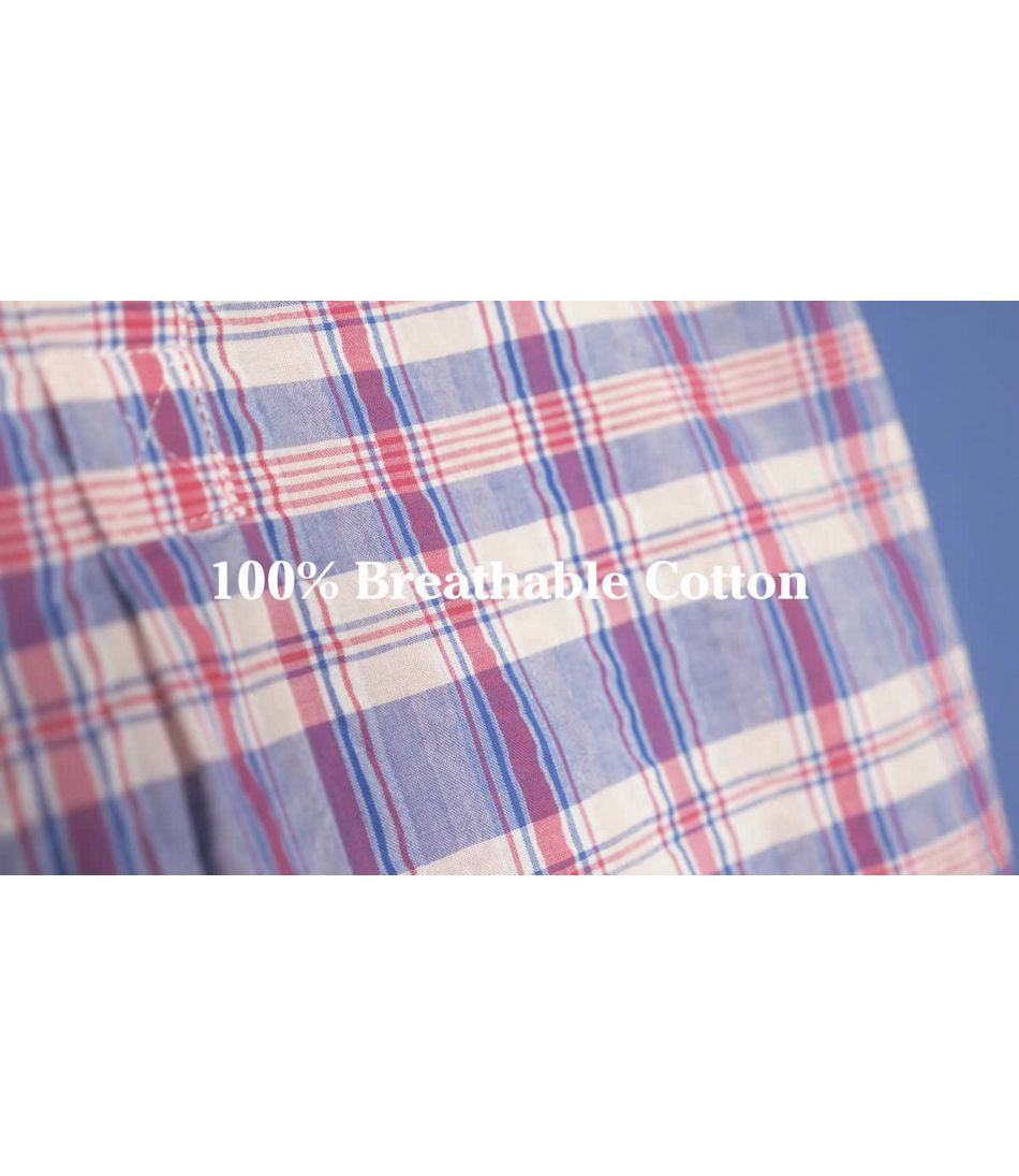 Video: Textured Cotton Popover Shirt Short Sleeve Plaid Misses