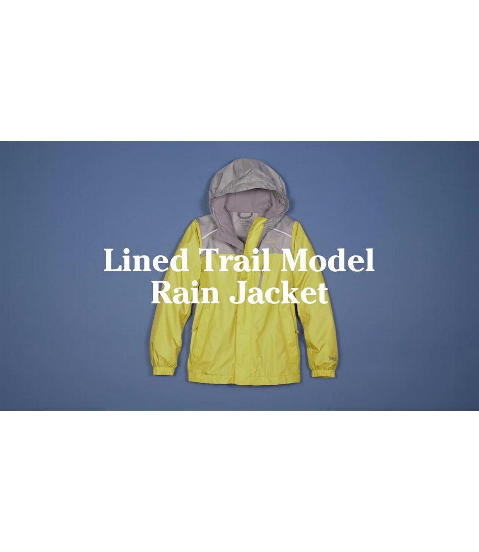 Video: Trail Model Rain Jacket Lined Color Block Kids