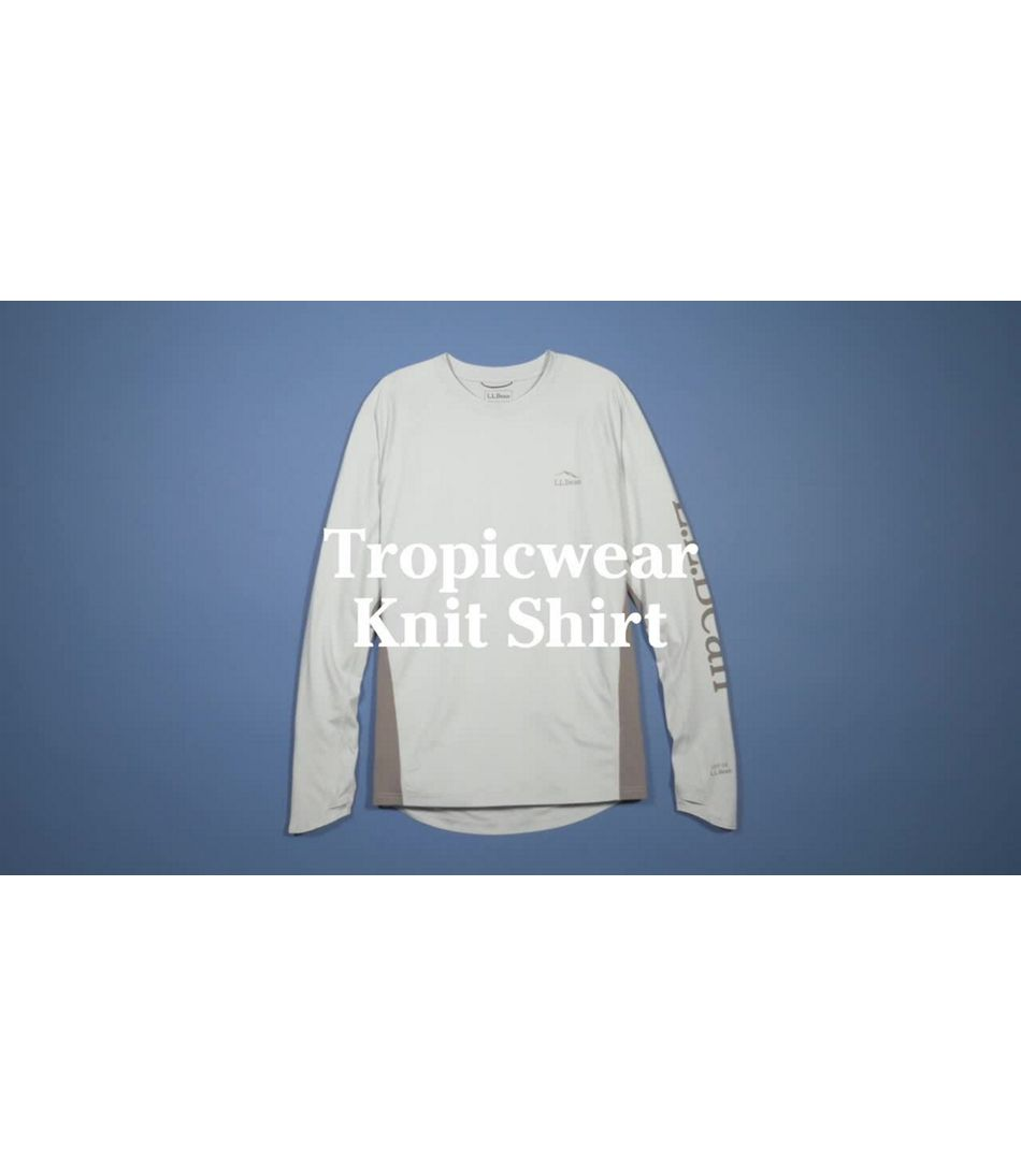 Video: Tropicwear Knit Crew Long-Sleeve Mens