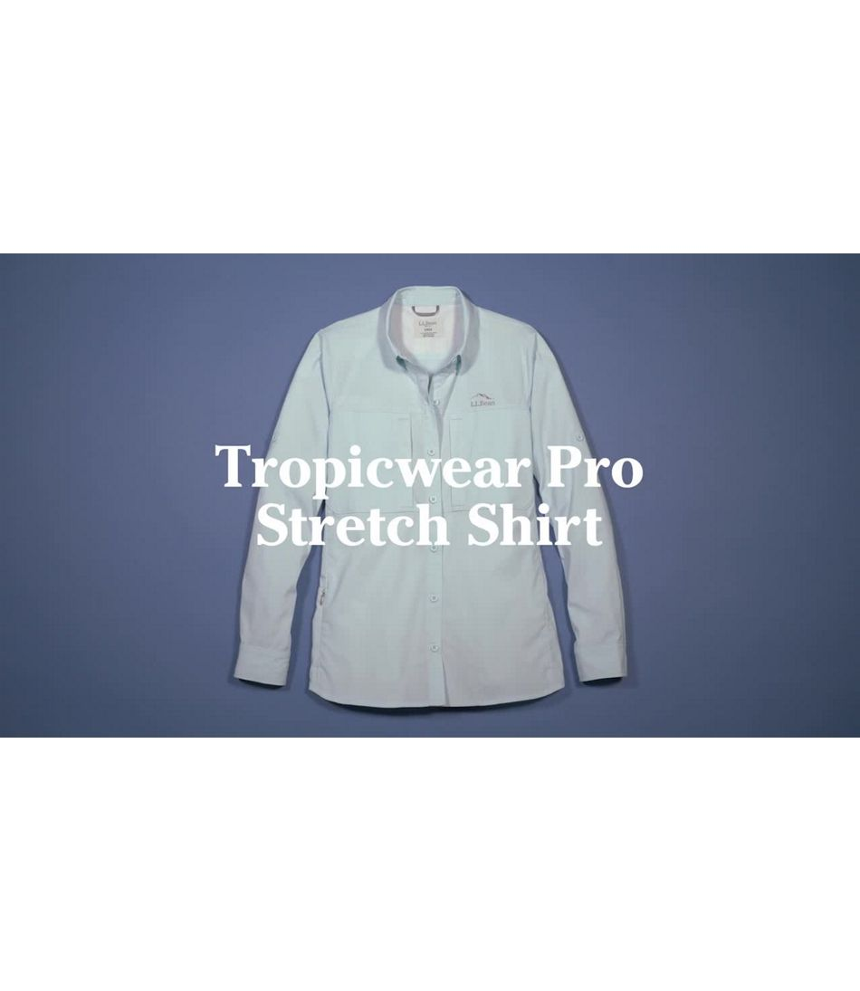 Video: Tropicwear Pro Stretch  Shirt Long-Sleeve Womens