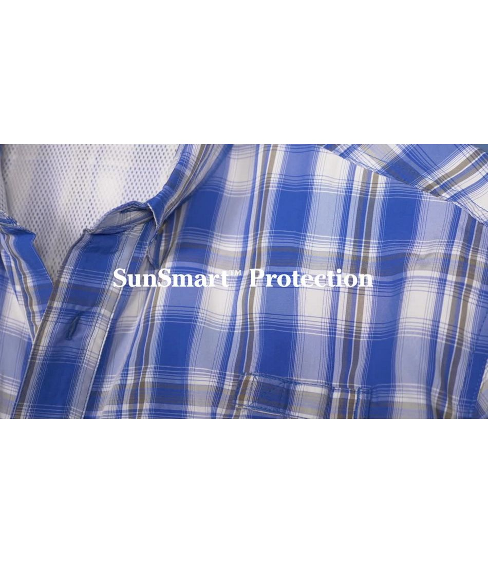 Video: Tropicwear Shirt Short-Sleeve Plaid Mens Regular