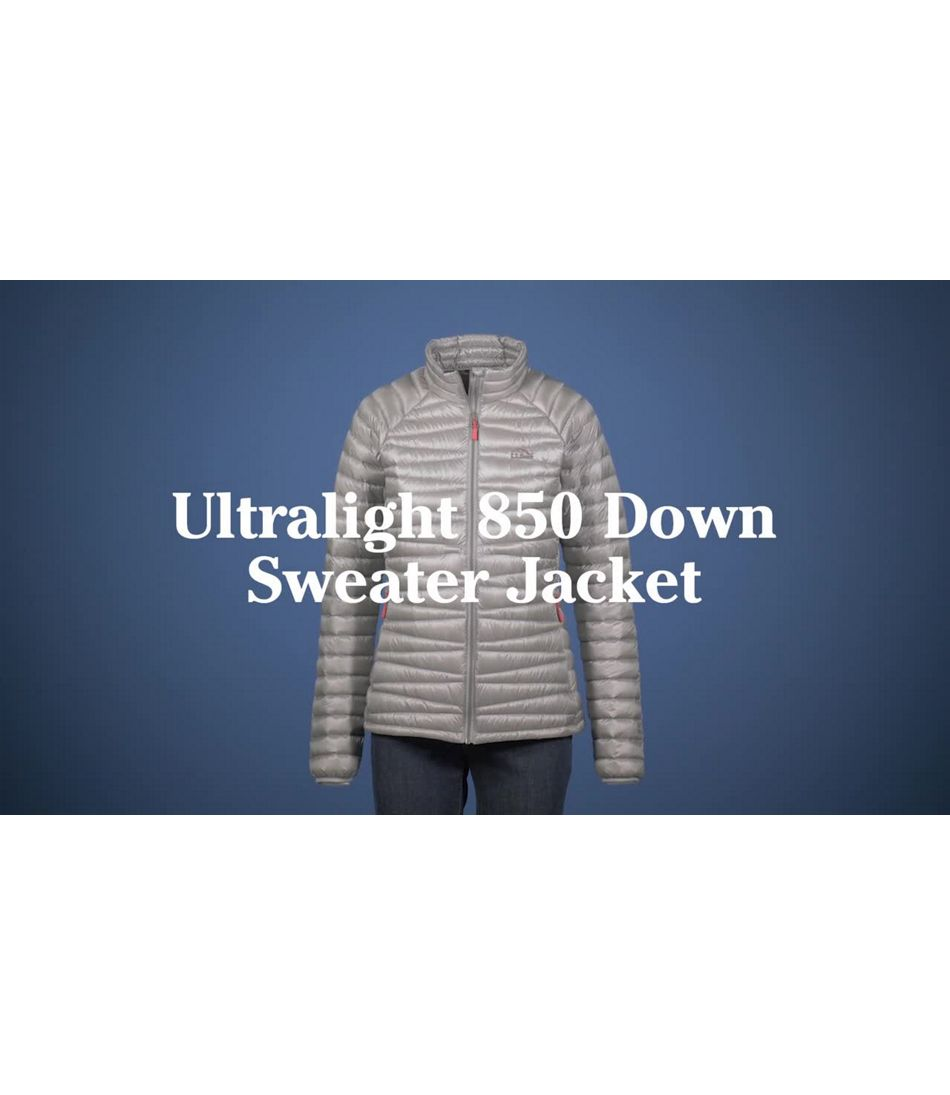 Video: Ultralight 850 Down Sweater Jacket Color Block Misses Regular