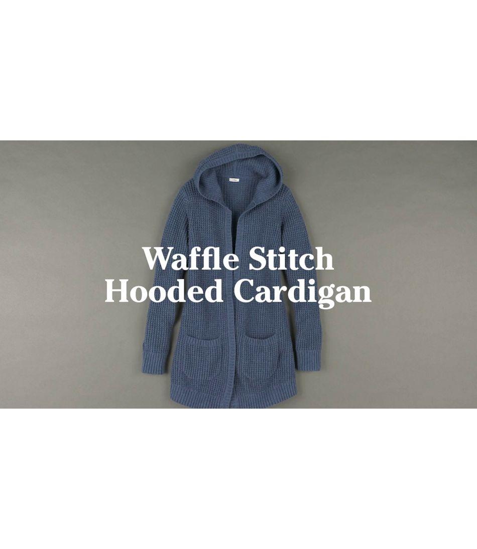 Video: WaffleStchSwts Hood OpnCrdgn Womens