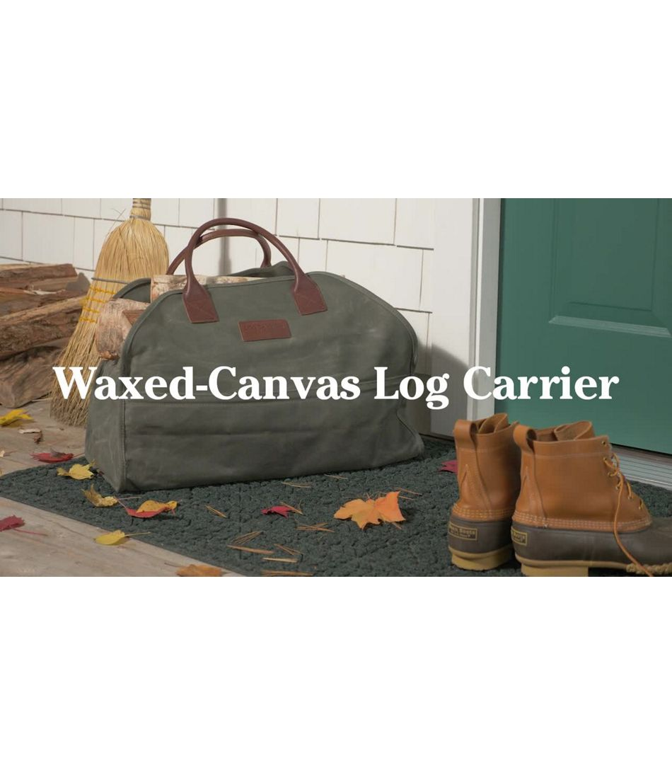 Video: Waxed Canvas Log Carrier