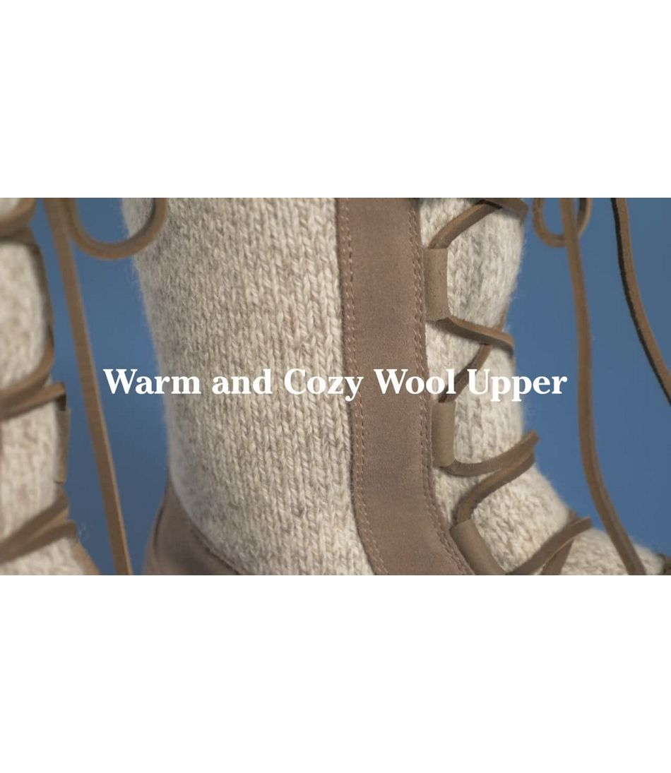Video: Wicked Good Lodge Boot Ragg Wool Womens