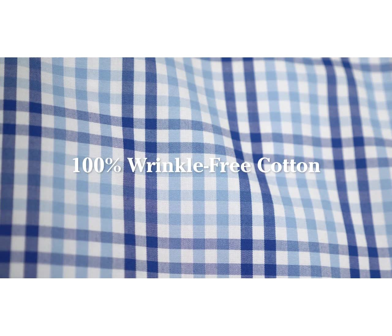 Video: Wrinkle-Free Vacationland Shirt Long Sleeve Slightly Fitted Gingham Mens