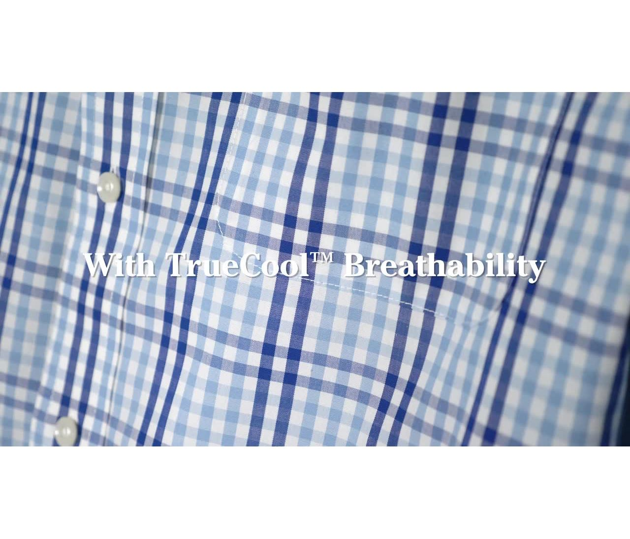 Video: Wrinkle-Free Vacationland Shirt Short Sleeve Gingham Mens