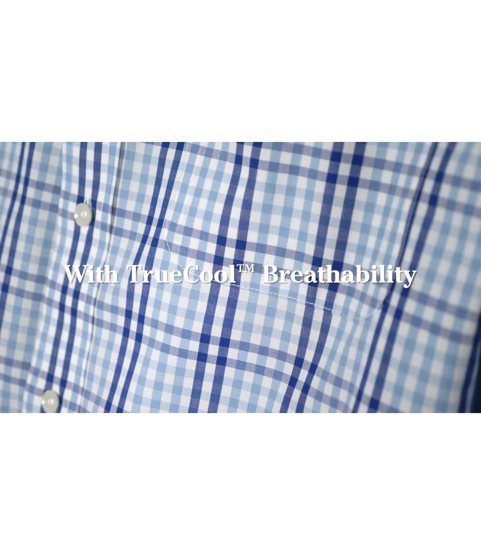 Video: Wrinkle-Free Vacationland Shirt Short Sleeve Gingham Mens