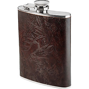 Crosshairs Leather Flask Set