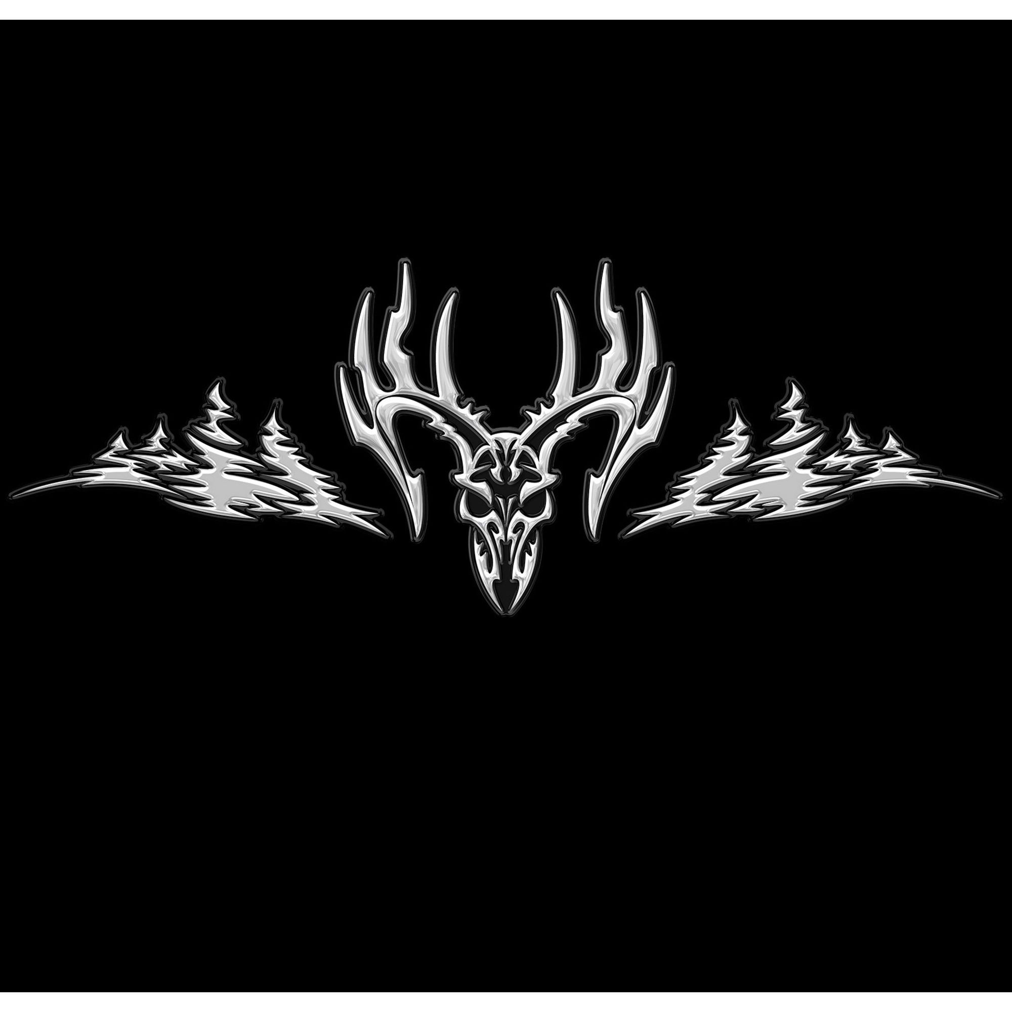 The Intimidator Decal Legendary Whitetails - Rear window hunting decals for trucks