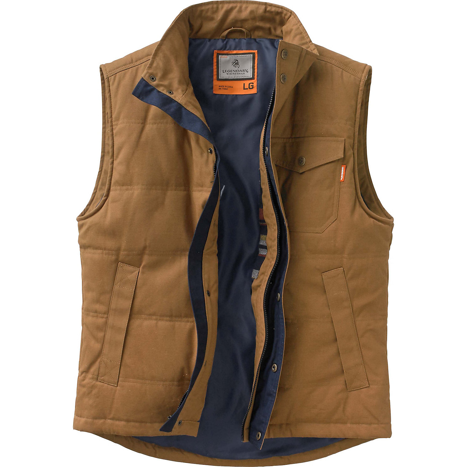 Legendary Whitetails Men S Bison Canvas Vest Ebay