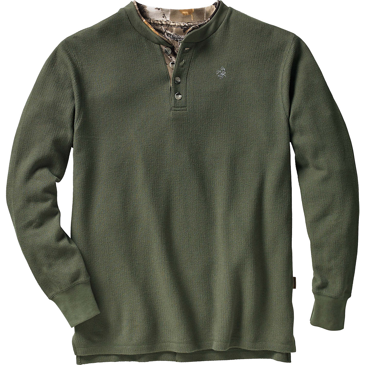 Legendary whitetails men 39 s summit double collar henley for Mens collared henley shirt