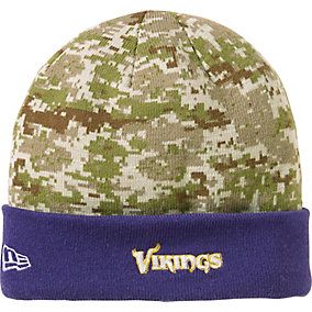 Minnesota Vikings NFL Camo Knit Hat