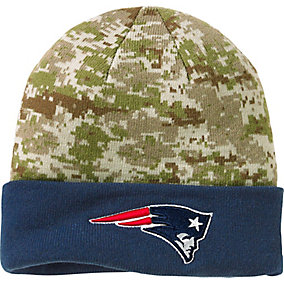 New England Patriots NFL Camo Knit Hat
