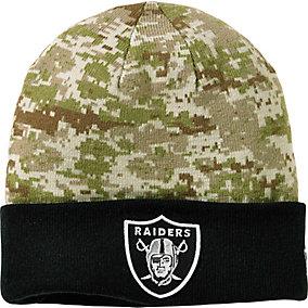 Oakland Raiders NFL Camo Knit Hat