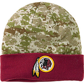 Washington Redskins NFL Camo Knit Hat