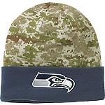Mens NFL Camo Knit Hat